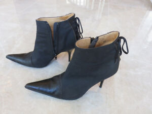 Oilskin/Black Leather Boots