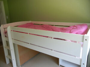 Child's loft style bed