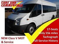 2013 FORD TRANSIT MINIBUS 430 LWB EL 135ps 17 Seats Tachograph