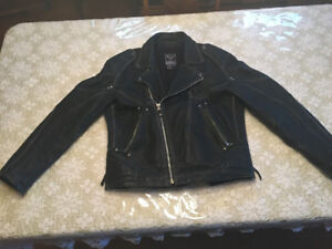 Arlen Ness distressed leather motorcycle jacket
