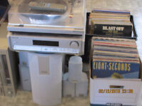Record Player and Lots of Records