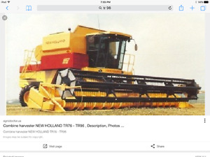 Looking for New Holland TR 96,97,98,99