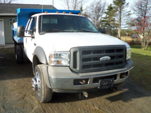 2005 ford550  sd  4x4,ext cab  10 ft dump $25900.00