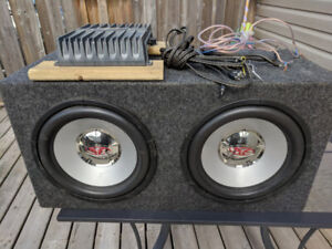 """Rockford Fosgate 12""""  Subwoofers and 1200w Amp"""