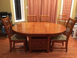 Round/Oval Dining Table with Leaf, 6 Chairs St. John's Newfoundland image 2