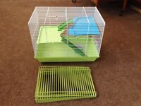 Cage, bowl and play pen for hamster