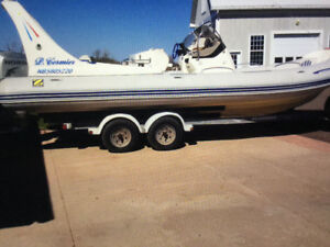 2002  Zodiac  Midline with a 2002 Honda four stroke