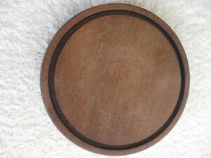 7-In. ROUND FOOTED SOLID WOOD DISPLAY STAND  [3/4 inch THICK ]
