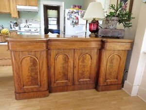 Antique Mahogany Dining table with Matching sideboard