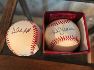Kelly Gruber and Dave Winfield autographed baseballs