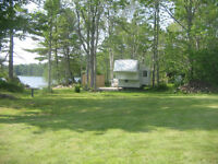 trailer for rent on private lakefront lot