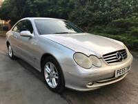2005 (55) Mercedes-Benz CLK 2.7 CDI AVANTGARDE TIP COUPE DIESEL AUTO FSH BARGAIN