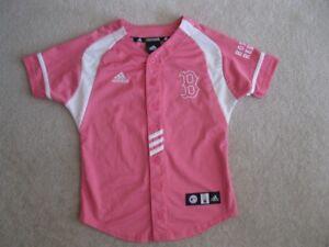 Girl's Adidas  Boston Red Sox Baseball Jersey