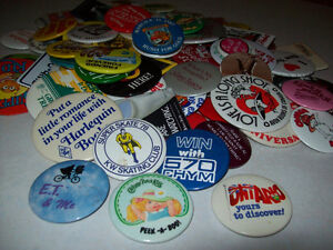 VINTAGE   --  BUTTONS / PINS  ( 1970'S - 80'S )
