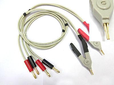 Lcr Meter Low Resistance Test Probe Leads Lcr Test Clip Terminal Kelvin Test
