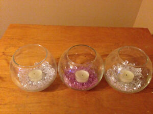 Candle holders with extra candles