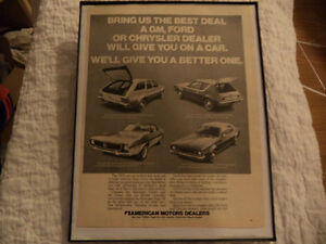 OLD AMC CLASSIC CAR FRAMED ADS Windsor Region Ontario image 7
