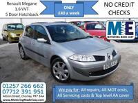 **£40 A WEEK** Renault Megane 1.6 VVT Maxim 5 DOOR, 12M MOT, EW CD RCL