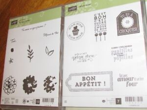"Brand New Stampin' Up ""Ce que j'aime"" French stamp set"