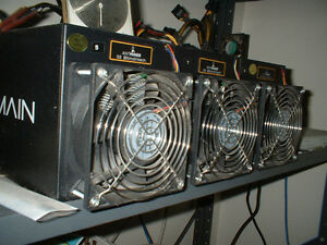ANTMINER bitcoin miner FOUR S3, THREE S1 + 4 power supplies