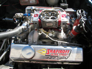 Shafiroff 427 Small Block Chevy 566HP pump gas crate engine