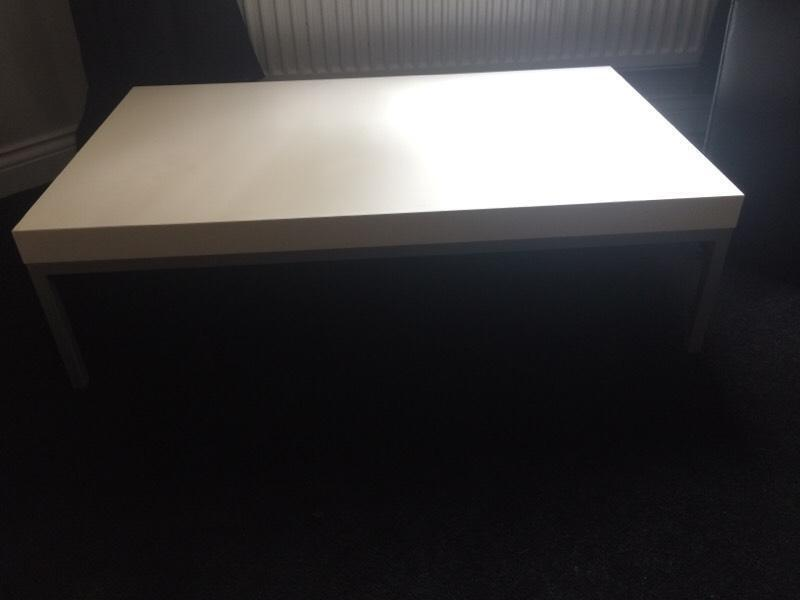 white low rise coffee table in leicester leicestershire