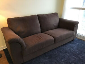 Dark brown 3-seat sofa for sale - $120
