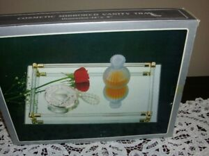 COSMETIC MIRRORED VANITY TRAY (NEVER USED)