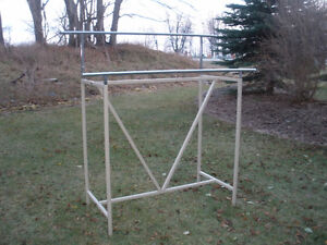 TWO-SIDED ADJUSTABLE CLOTHING RACK London Ontario image 1