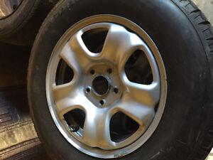 Honda rims with winter tires 215/70/16