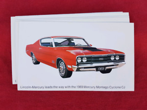 1969 MERCURY CYCLONE CJ NOS Dealer Promo Postcard