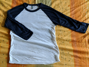 American apparel navy raglan baseball tee 3/4 sleeve