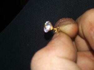 Brand new 10k gold diamond earrings