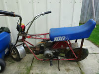 Minibike with early 1960's Honda 50 motor