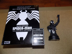 2011 GENTLE GIANT BLACK COSTUME SPIDER-MAN BUST #30 OF 300