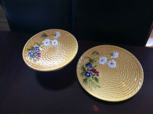 (Pending)Two Large Platters, Hand painted in Germany.