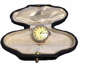 J.W.Benson 18ct Gold Diamond Set Ladies Watch