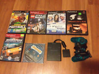 Playstation 2 Games, Controller and Multitap