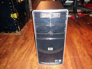 A well used PC with windows 7 OS and 500 watt power supply.