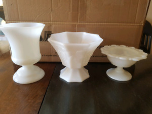 10 piece Milk Glass collection