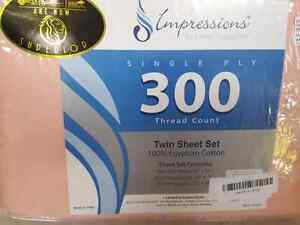 Impressions by Luxor Treasures twin sheet set 100% Egyptian cott