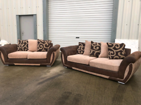 Brown fabric 3+2 seater sofas couches suite 🚚🚚