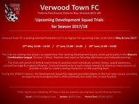 Verwood Town FC - Football Trials (Age 17+) in May & June