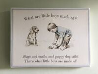 Wall Canvas, vintage picture. What are little boys made of?