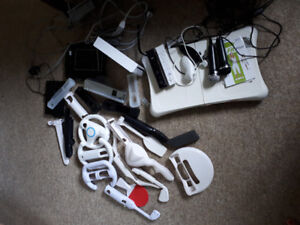 Wii system and bundle of games and accessories