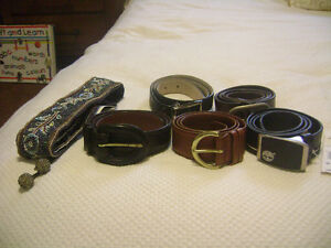 Leather Designer Belts (Six)- New Condition & Some New