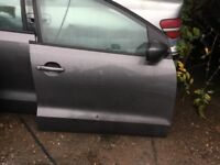 Vw Polo 96r offside front door grey 10-17