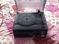 Record player with cd and radio