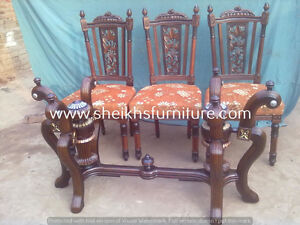 fsdgchnvba Wooden carved dining pillars and dining chairs avbdfh