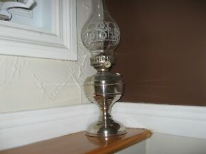 antique table oil lamp